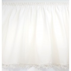 Perdea voal ivoire cu broderie la baza confectionata cu rejansa 270x110 cm