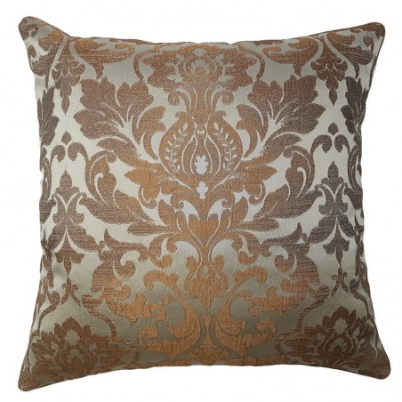 Perna decorativa cu design damask maro