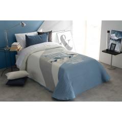Cuvertura moderna Balvin alb cu gri si bleu