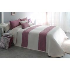 Cuvertura de pat eleganta Conte alb cu mov prafuit