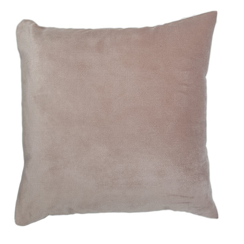 Perna decorativa catifea roz prafuit