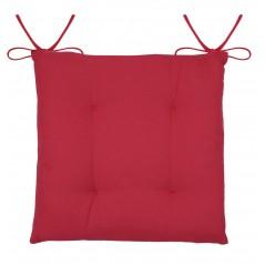 Perna scaun rustica bumbac Lyna rosu 38x38x1.5