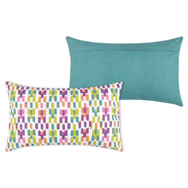 Perna decorativa dreptunghiulara cu 2 fete retro Jacara multicolor