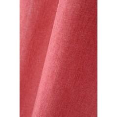 Draperie simpla confectionata pe inele Bea rosu deschis