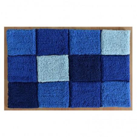 Covoras baie modern bumbac Gres albastru