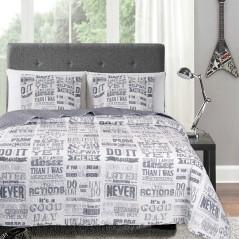 Set cuvertura de pat pentru adolescenti cu o fata de perna Journal