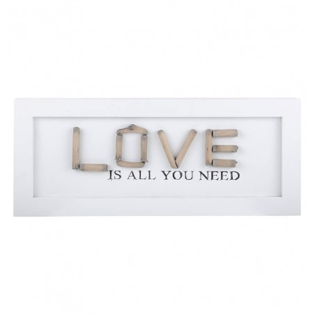 Decoratiune perete Love Charline alb cu bej