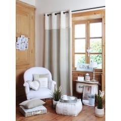Perna usa sau geam din bumbac Charline natural