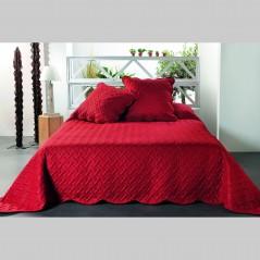 Set cuvertura de pat cu 2 fete de perna Californie rosu