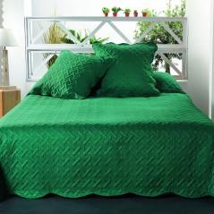 Set cuvertura de pat cu 2 fete de perna Californie verde