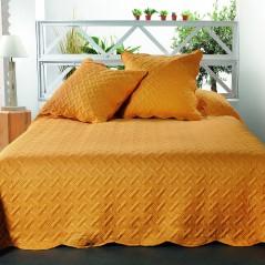 Set cuvertura de pat cu 2 fete de perna Californie galben mustar