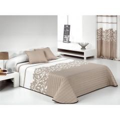 Cuvertura de pat eleganta Regal bej cu alb