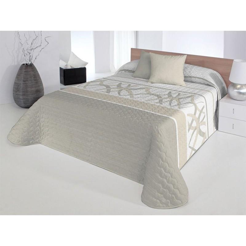 Cuvertura de pat moderna Baxley 2P bej cu alb