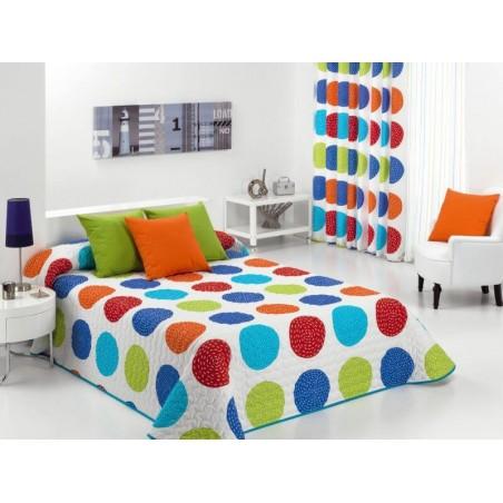 Cuvertura de pat cu cercuri Forli multicolor