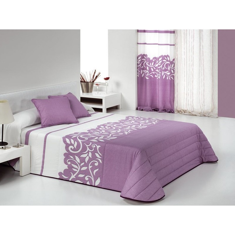 Cuvertura de pat eleganta Regal lila cu alb