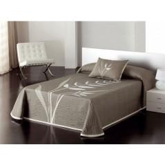 Cuvertura de pat reversibila din bumbac Nayla crem cu grej