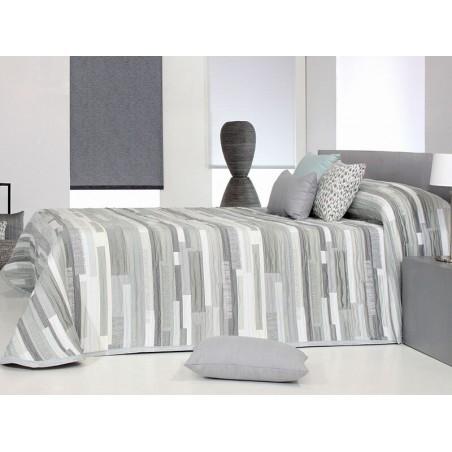 Cuvertura de pat moderna Mate gri cu alb