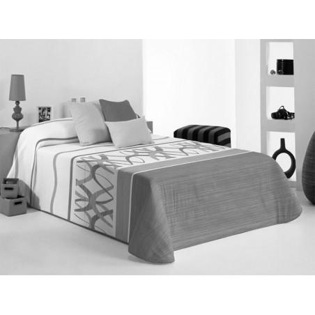 Cuvertura de pat moderna Baxley 2A gri cu alb