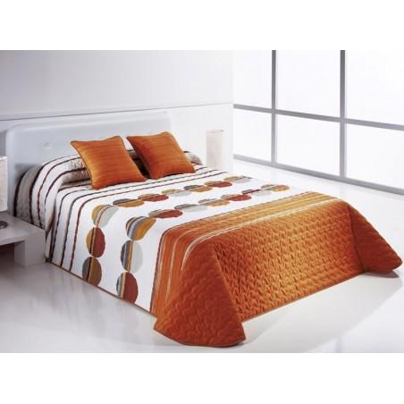 Cuvertura de pat vesela Sipo portocaliu cu gri si alb