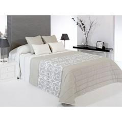 Cuvertura de pat matlasata Grandy bej cu gri