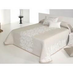 Cuvertura de pat reversibila Lori crem cu bej