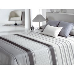Cuvertura de pat cu model elegant Bis gri cu alb