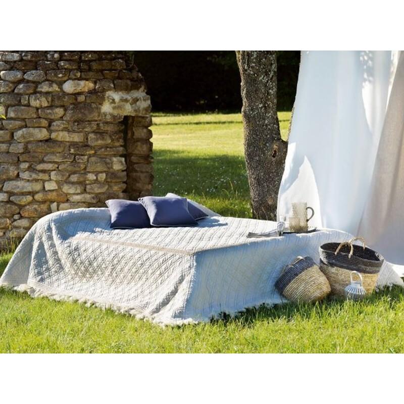Cuvertura de pat rustica Ibiza crem