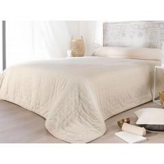 Cuvertura de pat matlasata cu model elegant Manosque ecru