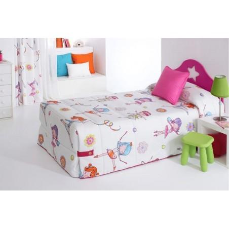 Cuvertura de pat pentru fete cu gimnastica ritmica Sugar 02 multicolor