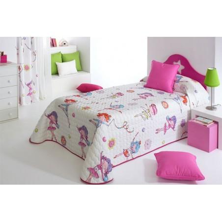 Cuvertura de pat pentru fete cu gimnastica ritmica Sugar 2P multicolor