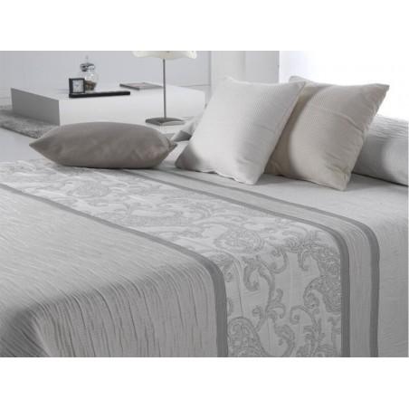 Cuvertura de pat cu model elegant Carvex Alb
