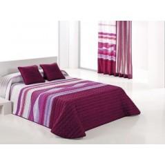 Cuvertura de pat moderna Irazu alb cu mov