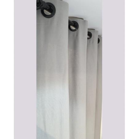 Draperie simpla bumbac cu doua nuante de gri 130x257 cm