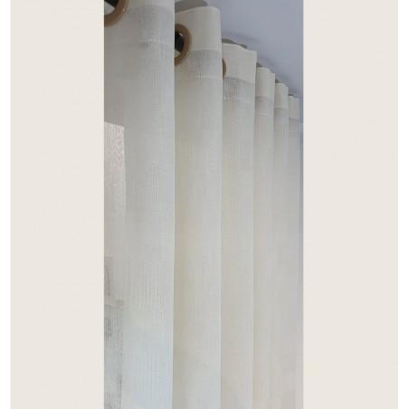 Perdea simpla confectionata cu inele Karo crem 220x260 cm