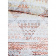 Set lenjerie de pat cu 2 fete de perna bumbac Torres cu imprimeu portocaliu