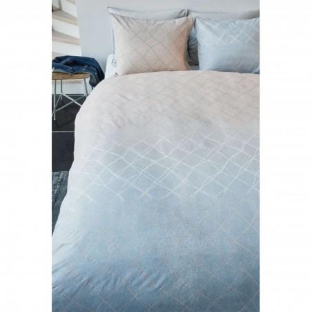 Set lenjerie de pat cu 2 fete de perna bumbac Carrera cu design modern nisipiu