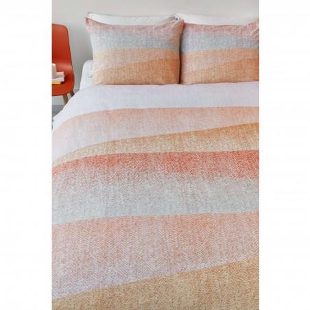 Set lenjerie de pat cu 2 fete de perna bumbac Cascadas corai cu design modern