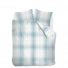 Set lenjerie de pat cu 2 fete de perna Baker cu design modern bleu cu gri
