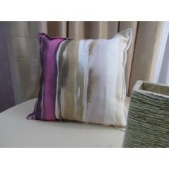 Perna decor din bumbac cu imprimeu mov