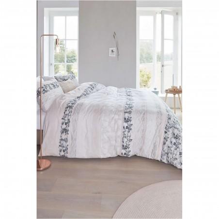 Set lenjerie de pat cu 2 fete de perna bumbac Forest Voice coral cu design modern