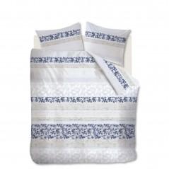 Set lenjerie de pat cu 2 fete de perna bumbac Forest Voice albastru cu design modern