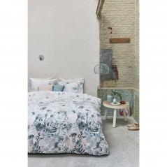Set lenjerie de pat cu 2 fete de perna bumbac Madeira pastel cu design floral