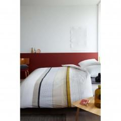 Set lenjerie de pat cu 2 fete de perna bumbac Liva galben cu design modern