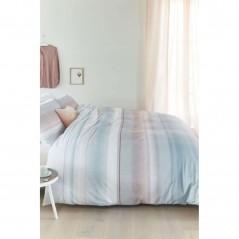 Set lenjerie de pat cu 2 fete de perna bumbac Pippa albastru cu design elegant