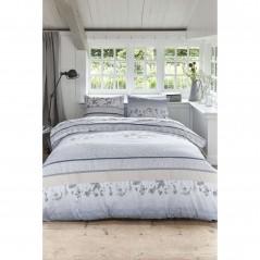 Set lenjerie de pat cu 2 fete de perna bumbac Pale cu design elegant albastru cu gri