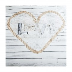 Set lenjerie de pat cu 2 fete de perna bumbac Lovewood cu design modern cu inima
