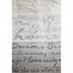 Set lenjerie de pat cu 2 fete de perna Home Sweet Home natural cu design cu text scris