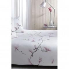 Set lenjerie de pat cu 2 fete de perna bumbac Honolulu cu model floral roz