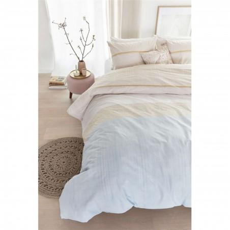 Set lenjerie de pat cu 2 fete de perna bumbac Jill cu model clasic in nuante pastel