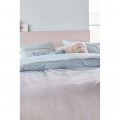 Set lenjerie de pat cu 2 fete de perna bumbac Jill cu model clasic in nuante bleu si mov